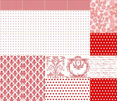 Gift Wrap yard for DANISH STARS 2 final fabric by lilyoake on Spoonflower - custom fabric