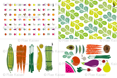 Eat your Fruits and Veggies Dish Towels