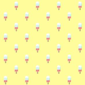Kawaii melting popsicle pattern