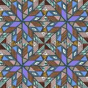 pinwheel cool brown blues