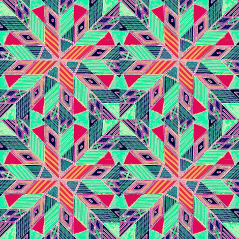 pinwheel aqua navy fabric by farreystudio on Spoonflower - custom fabric