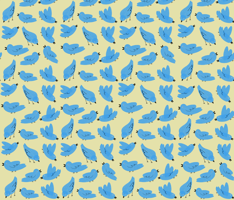 Bluebirds fabric by anda on Spoonflower - custom fabric