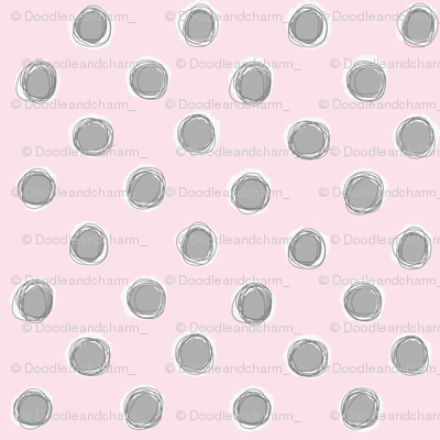 Doodle dots gray pink - Sketch 1