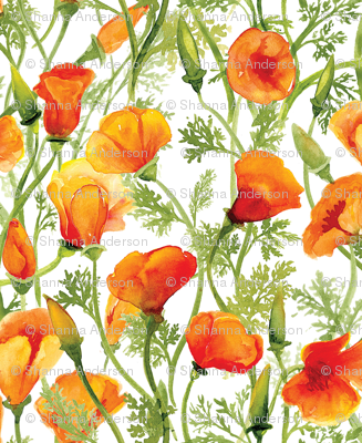 Rcaliforniapoppy_spoonflower_halfdrop_tile_small_preview