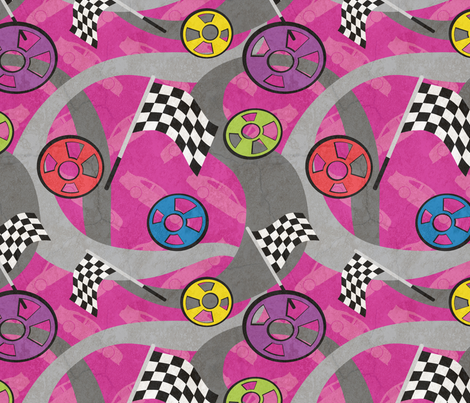Race For The Checkered fabric by jewelraider on Spoonflower - custom fabric