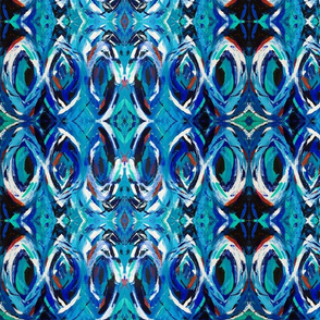 abstract art - black and blue