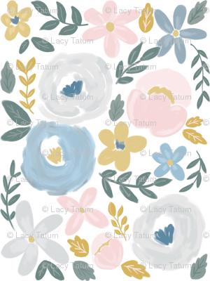 Soft Pastel Baby Florals