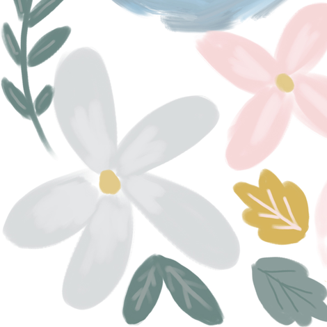 Soft Pastel Baby Florals  fabric by smallhoursshop on Spoonflower - custom fabric