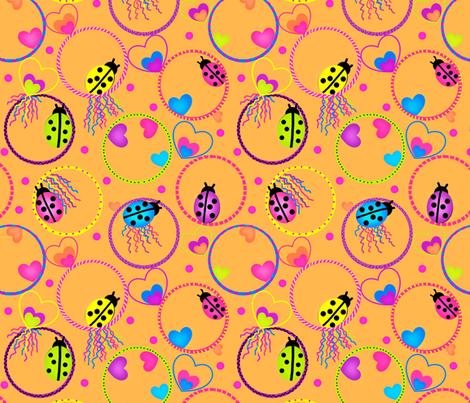 Ladybug Hula-Hoop Jubilee fabric by franbail on Spoonflower - custom fabric