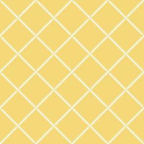 Nautical rope, yellow and white.