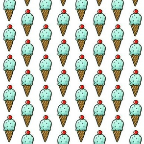 Mint Ice Cream Cones - Smaller