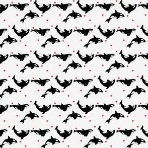 Killer Whales + Hearts - Tiny
