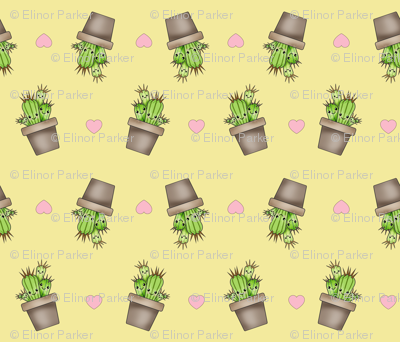 Kawaii Cacti Light Yellow