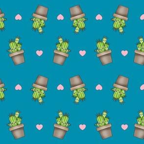Kawaii Cacti Teal