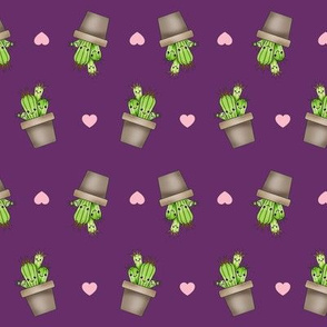 Kawaii Cacti Purple