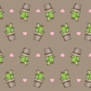 Kawaii Cacti Tan