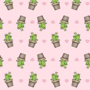 Kawaii Cacti on Pink