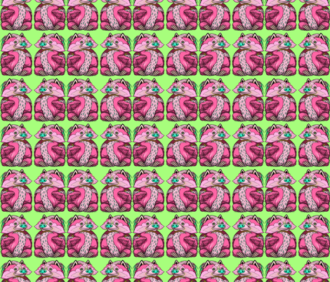 Toby Pink Pow fabric by amy_kollar_anderson on Spoonflower - custom fabric