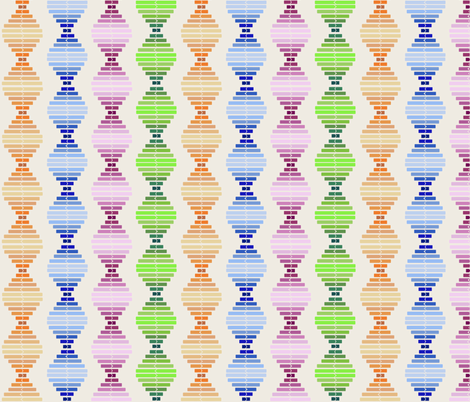 Fabric of life; Mixed fabric by twilfley on Spoonflower - custom fabric