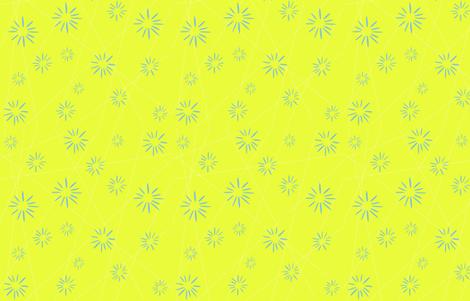 Yellow Starburst Medium fabric by ellegarrettdesigns on Spoonflower - custom fabric