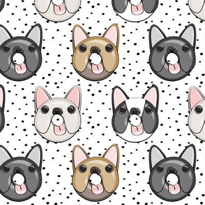 Frenchie - French Bulldog donuts (black dots)
