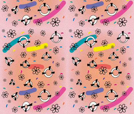 flowerpower fabric by sabrina_nowling on Spoonflower - custom fabric
