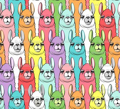 """(1"""" scale) rainbow llamas"""