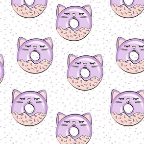 cat donuts - purple on purple dots
