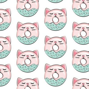 cat donuts - pink