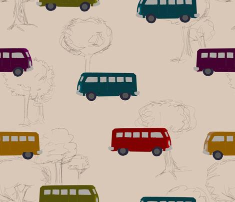 Slug Bus fabric by adelaidebtq on Spoonflower - custom fabric