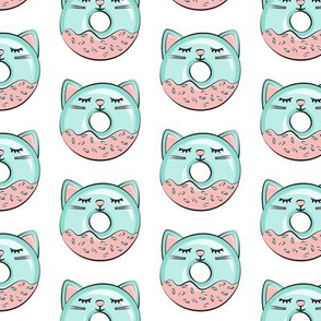cat donuts - teal