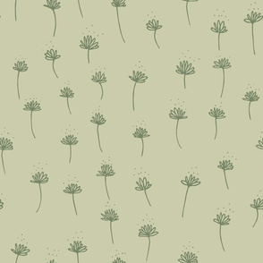 Daisy drawing - Light Lime