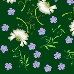 Seamless brown flowers pattern