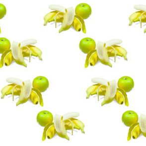 Bananas and apple