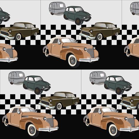 Old Vintage cars . fabric by chetverg on Spoonflower - custom fabric