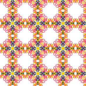checkered geometric watercolor pattern