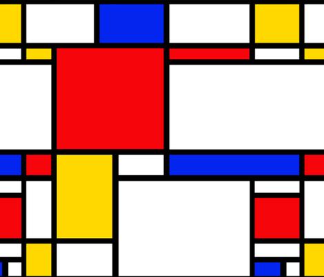 Mondrian fabric by thewellingtonboot on Spoonflower - custom fabric