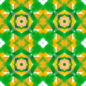green checkered geometric watercolor