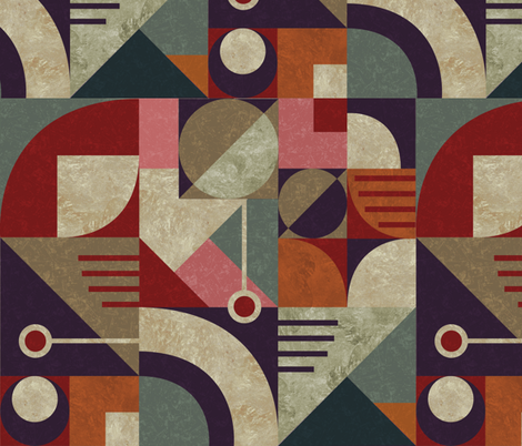 geometric bauhaus fabric by gaiamarfurt on Spoonflower - custom fabric