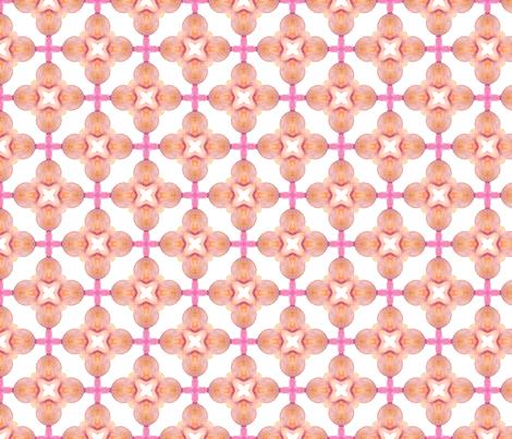 pink kaleidoscope pattern fabric by ninanaina on Spoonflower - custom fabric