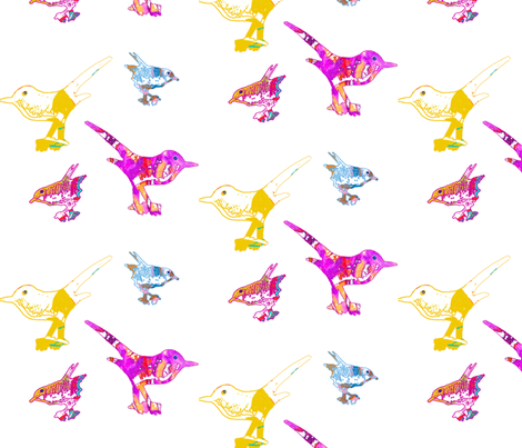 Playful birds 1 fabric by marta_caldas on Spoonflower - custom fabric