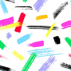 Abstract brush paint stroke colorful pattern