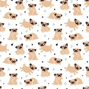 Fawn Pug Party- Dog Mini