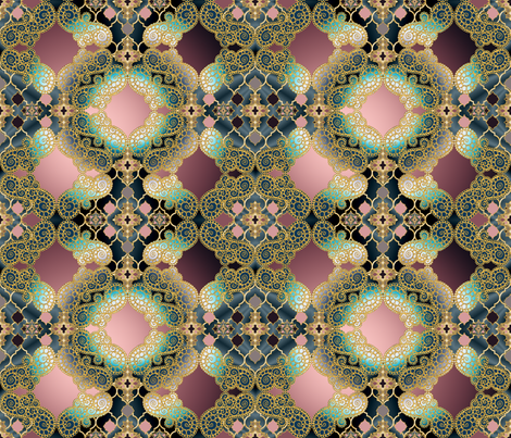 Marrakesh dark multi fabric by pearlposition on Spoonflower - custom fabric
