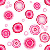 Bauhaus Pink Blooms on white
