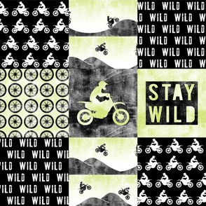 Motocross Patchwork - Stay Wild -   Green