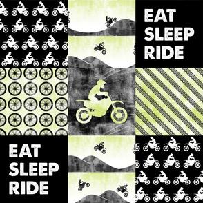 Motocross Patchwork - EAT SLEEP RIDE - green