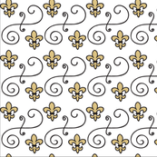 Fleur de lis Scroll - The Louisiana Collection