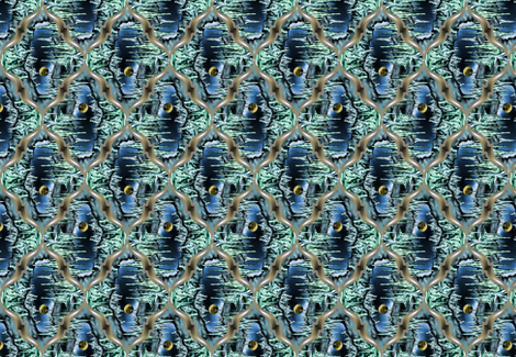 Moon in the Cavern scarf fabric by enid_a on Spoonflower - custom fabric