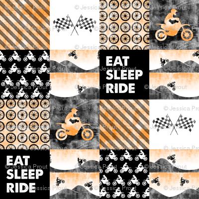 Motocross Patchwork - EAT SLEEP RIDE - orange